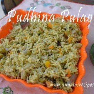 Pudhina Pulao | Pudina Pulao Recipe