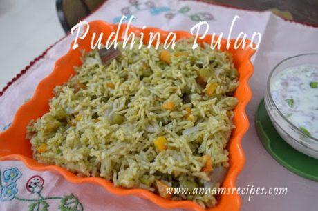 Pudhina Pulao Pudina Pulao Recipe