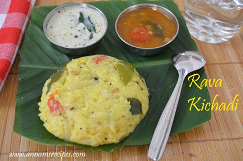 Rava Kichadi Rava Kichadi Recipe