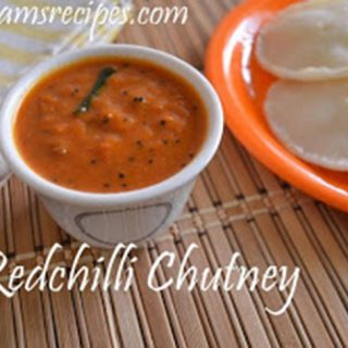 Red Chilli Chutney Recipe | Vara Milagai Chutney