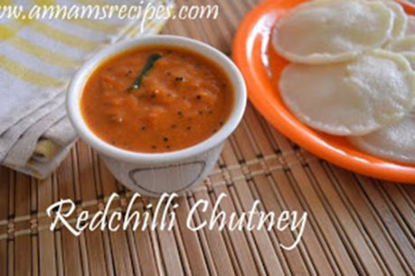 Red Chilli Chutney Recipe Vara Milagai Chutney