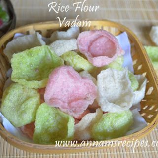 Rice Flour Vadam | Rice Flour Vadam Recipe