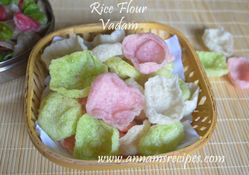 Rice Flour Vadam Rice Flour Vadam Recipe