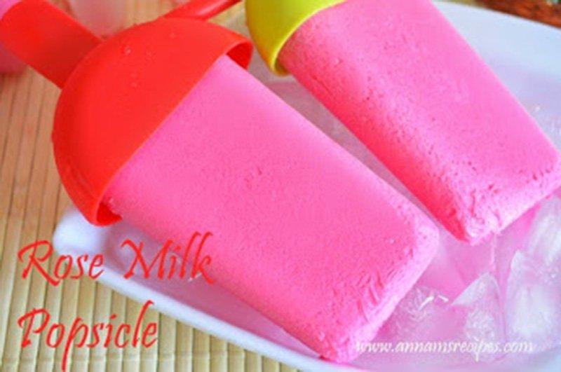 Rose Milk Popsicle Rose Milk Popsicle Recipe