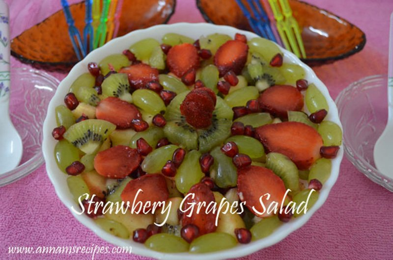Strawberry Grapes Salad Recipe Strawberry Salad with Grapes