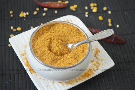 Sundal Podi How to make Sundal Podi for Sundal