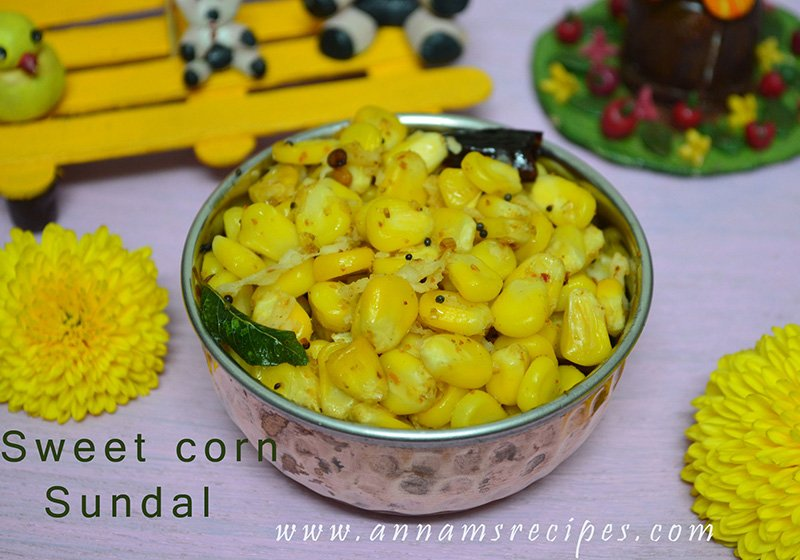Sweet corn Sundal Sweet corn Sundal Recipe