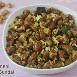 Thattapayaru Sweet sundal Recipe | Karamani Sweet sundal