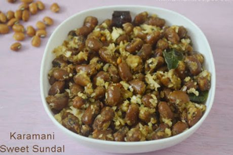 Thattapayaru Sweet sundal Recipe Karamani Sweet sundal