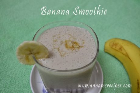 Banana Smoothie Banana Smoothie recipe