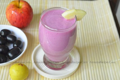 Black Jamun Apple Smoothie jamun apple smoothie