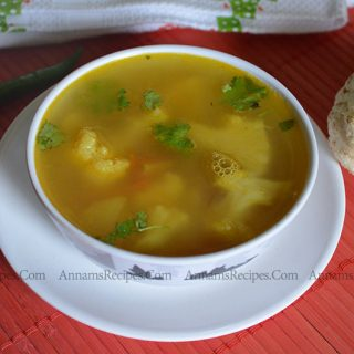 Chettinad Cauliflower Soup recipe | Cauliflower Soup