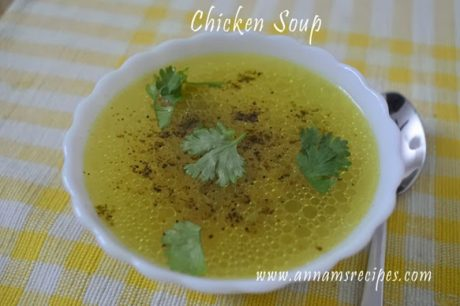 Chettinad Chicken Soup chettinad style chicken soup