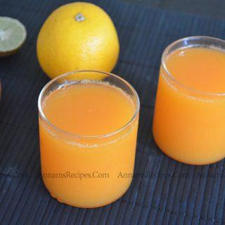 Orange carrot Juice | orange carrot juice recipe
