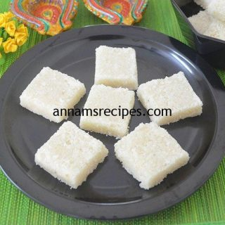 Simple Coconut Burfi recipe | Coconut Burfi