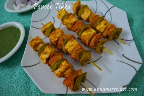 How to make Paneer Tikka Paneer Tikka recipe