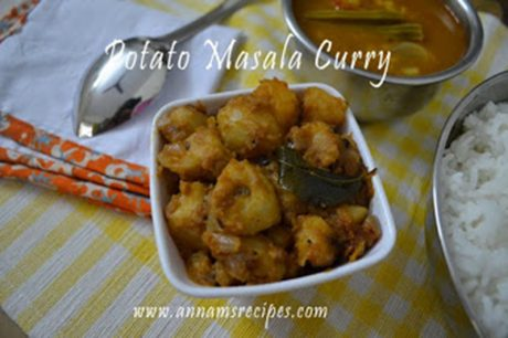 Chettinad Potato Masala curry Spicy Potato Curry