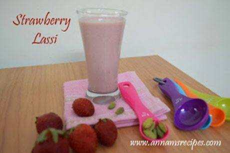 Strawberry Lassi Recipe Strawberry Lassi