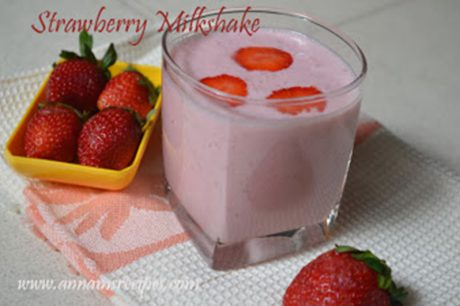 Strawberry Milkshake Strawberry Milkshake Recipe