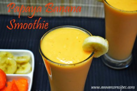 Papaya Banana Smoothie Papaya Banana Smoothie Recipe