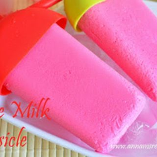 Rose Milk Popsicle | Rose Milk Popsicle Recipe